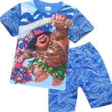Moana Baby Girls Clothes Set Summer Kids Tops + Pants Children Clothing Set Kids Boys Top Tees Maui Clothes Moana Costume