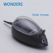 Kids Solar Toys Power Energy Solar Mini Mouse Black Children Teaching Fun Gadget Toy Gift For Kids Solar Energy Toys