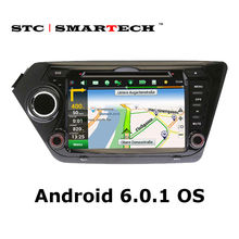 SMARTECH Car DVD player GPS Navigation for KIA K2 RIO 8 inch Quad Core Android 6.0.1 Car Stereo Radio Head Unit Support OBD DAB+