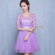 lady girl size 8 formal elegant simple short lavender light purple sexy vestidos cocktail dresses s dress free shipping S3550