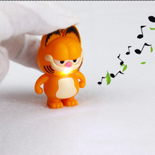 Garfield Cute LED Lighting Teenage  Toys With Sound Children Kids Decoration Present Gift TY0037
