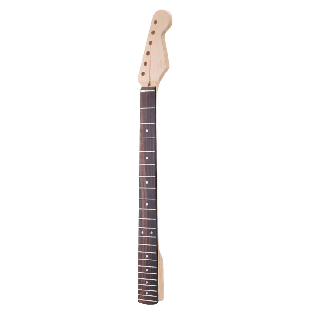 Homeland Electric Guitar Neck Replacement Parts For ST 22 Frets Rosewood Fingerboard Maple Neck 10mm Head Machine Peg Holes<br>