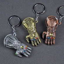 Car Keyring Keychain Jewelry Thanos-Gloves Comics Marvel Movie Party-Gift Avengers Fashion