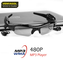 VENYASOL Support Play Mp3/WMA  Mini Glasses Camera Video Recorder Camcorder Cam Outdoor Sport  Driving Sunglasses