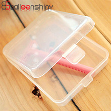 BalleenShiny Practical Transparent Fine Storage Box Cosmetic makeup Collection Shaver Container Case with Lid 11*8.5*2.5cm