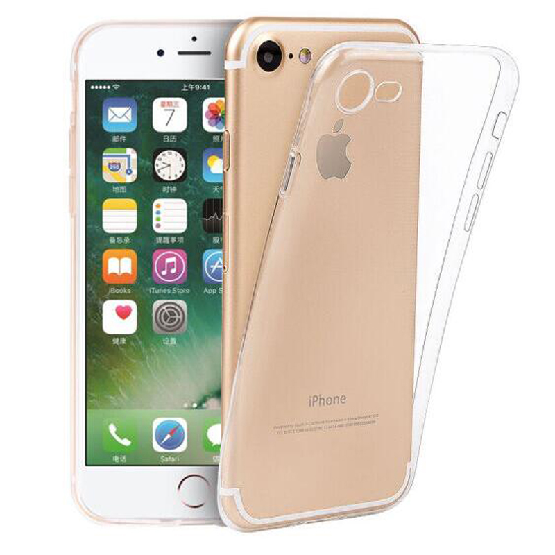 Ultra Thin Transparent Clear Soft Silicone Phone Case Cover Fundas Coque iphone 6 S 7 7Plus 6S 6Plus 8 8Plus 5 S 5S SE