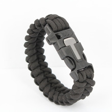 Survival Paracord Bracelet for Men Outdoor Camping Hiking Buckle Wristband Women Rope Bracelet Male Jewelry Knot Woven Bracelet