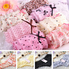 Buy 12 Colors Women Butt Lifter Briefs Lovely Girl Sexy Dot Female Underwear Women Lace Ruffles Women's Sheer Panties
