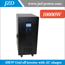Pure sine Wave 10KW/10000W Grid off inverter 20KW Surge Power dc to ac Converter with UPS function with AC charger(China)