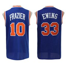 Throwback #33 Patrick Ewing Jersey Cheap wholesale,Walter Frazier #10 basketball jerseys Stitched embroidery Logos,free shipping