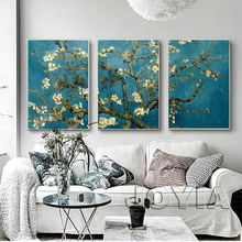 Blossoming Almond Tree Canvas Art Van Gogh Reproduction Painting Wall Pictures For Home Bedroom Living Room Decoration No Frame