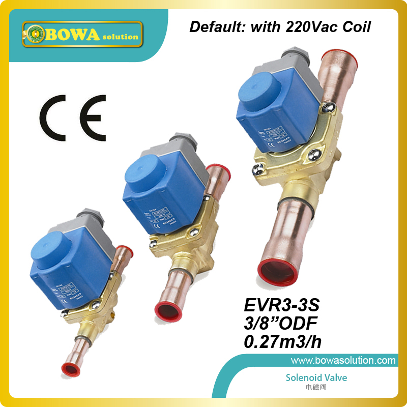 3/8 ODF(0.27m3/h)  refrigerant solenoid valve  with nuts for constant temperature machine interchangeable with Danfoss valve<br><br>Aliexpress