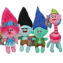 23cm Movie Trolls Plush Toy Doll Trolls Poppy Branch Dream Works Soft Stuffed Toys Action Figure Gifts for Kids Children
