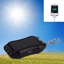 Mini Portable 5V 1200mAh Solar Power Bank Mobile Power Supply Energy USB Charger Battery For Emergency Wholesale With Keychain