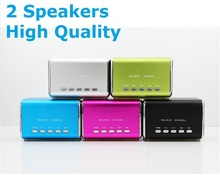 Free shipping LED Mini Speaker for iPhone iPad Cell Phones Laptop Tablet PC TF Card Stereo Speaker MP3 Player