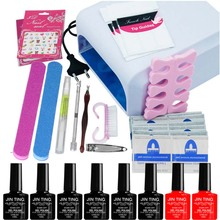 JinTing in 36W UV lamp  Resurrection nail tools and portable package 10ml soaked UV glue  led gel polish 220V for lady