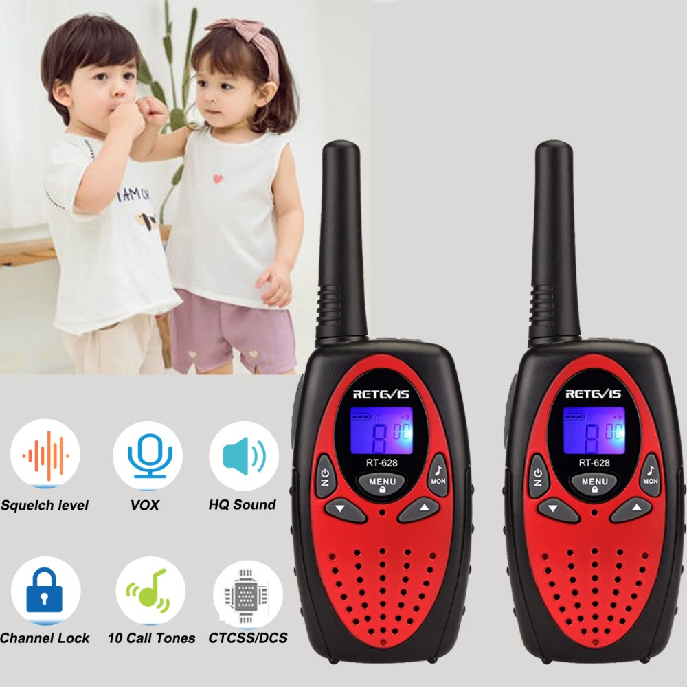 RETEVIS RT628 Mini Walkie Talkie Kids 2pcs 0.5W Portable Children's radio For Camping Hiking  Birthday Present Christmas Gift