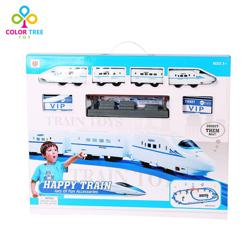 Electric Train Track Set- Upper and Lower Level Bridge with Light Music Toys for Children(China (Mainland))