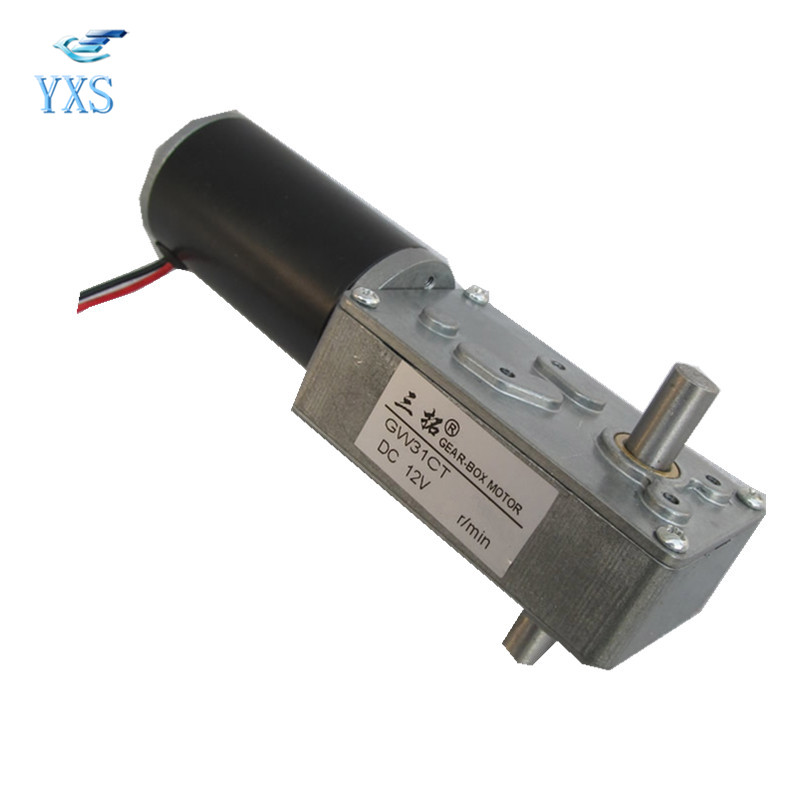 GW31CT DC Motor High Torque DC 6V DC 12V DC 24V 1.8RPM 2RPM 4RPM 4.2RPM Single Double Shaft Gear Box Motor<br>