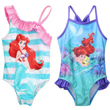 One-piece Little Girls Mermaid Swimsuit Infant Girl Bathing Suit Swimwear Strap Bikini Swimsuit Swimming Costume Clothes(China)