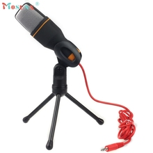 mosunx Hot selling Condenser Sound Studio Microphone Mic For Chat PC Laptop Skype MSN BK Jun.23