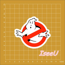 American movies Ghostbusters Logo Car Accessories Sticker for laptop trolley case backpack and book  waterproof DIY PVC sticker