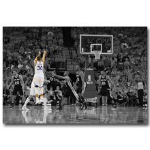 NICOLESHENTING Stephen Curry Poster Art Silk Fabric Poster Print 13x20 24x36inch Basketball Star Pictures Home Wall Decor 017