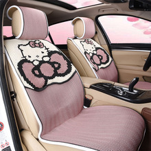 girl's woman's  cute hello kitty brand fashion linen  pink universal car seat cover set