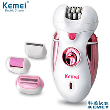 New arrival 4 in 1 Rechargeable Multifunctional Women Shaver Electric Epilator Hair Removal Foot Care Tool battery power shaver