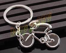 800pcs creative metal Sporty man Road bicycle figure keychain keyring souvenirs bike Cycling lover biker AD party gift keychain