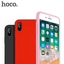 HOCO Original Liquid Silicone Case for iPhone X Luxury Microfiber Protective Phone Cover for iPhone X 10 Fashion Capinha Funda(China)