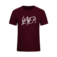Heavy Metal Tops Tees Men Short Sleeve Casual T-Shirt O Neck Cotton Mens T Shirt Slayer Rock Music Summer New Fashion Tops