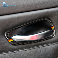 Buy Airspeed BMW E90 E92 3 Series Carbon Fiber Car Interior Door Handle Frame Trim Cover Decor 2005-2012 Car Styling Accessories for $24.75 in AliExpress store