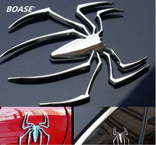 2 pieces / lot  Car spider Sticker,3D metal decals,Chrome Badge Emblem,Auto labels,decorative parts,accessories