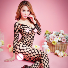 Buy big hole black Open Crotch sexy lingerie hot fishnet Sheer mesh bodystockings Sexy bodysuit women Stockings erotic Lingerie 624