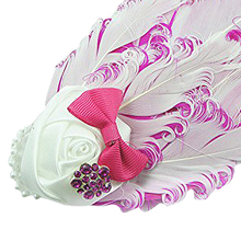 NEW Lovely Cotton Girls Headbands,Feather,purple and white