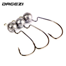 DAGEZI 5pcs/lot crank Jig head hook 3.5g 5g 7g fishing hook lead Jig lure hard baits soft worm fishing tackle accessories