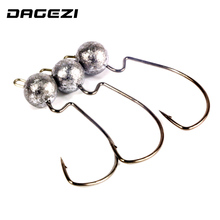 DAGEZI 5pcs/lot crank Jig head hook 3.5g 5g 7g fishing hook lead Jig lure hard baits soft worm fishing tackle accessories(China)