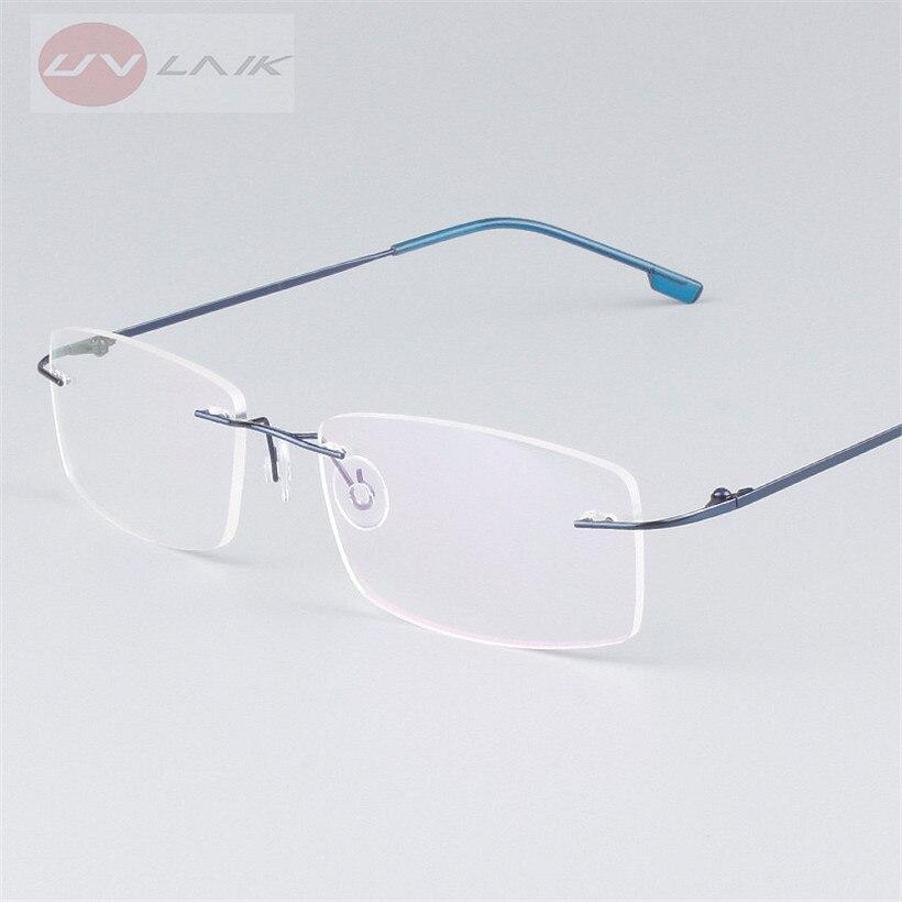 Titanium Ultra Light Rimless Glasses Eyewear Frames for