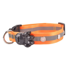 Training Nylon Pet Collars Dog Collar Safety Light Up Flashing Glow In The Dark Harnais Chien LED System Arnes Perro 80A0307