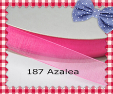 (200yards/roll) 2 Inch (50mm) Azalea/La Rosa/Coral Rose/Popy Red Sheer Ribbon(China)