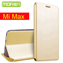 xiaomi mi max case Mofi 64gb flip leather cover 32gb funda xiaomi mi max cover silicone flip cover 6.44 coque xiaomi mimax cases(China)