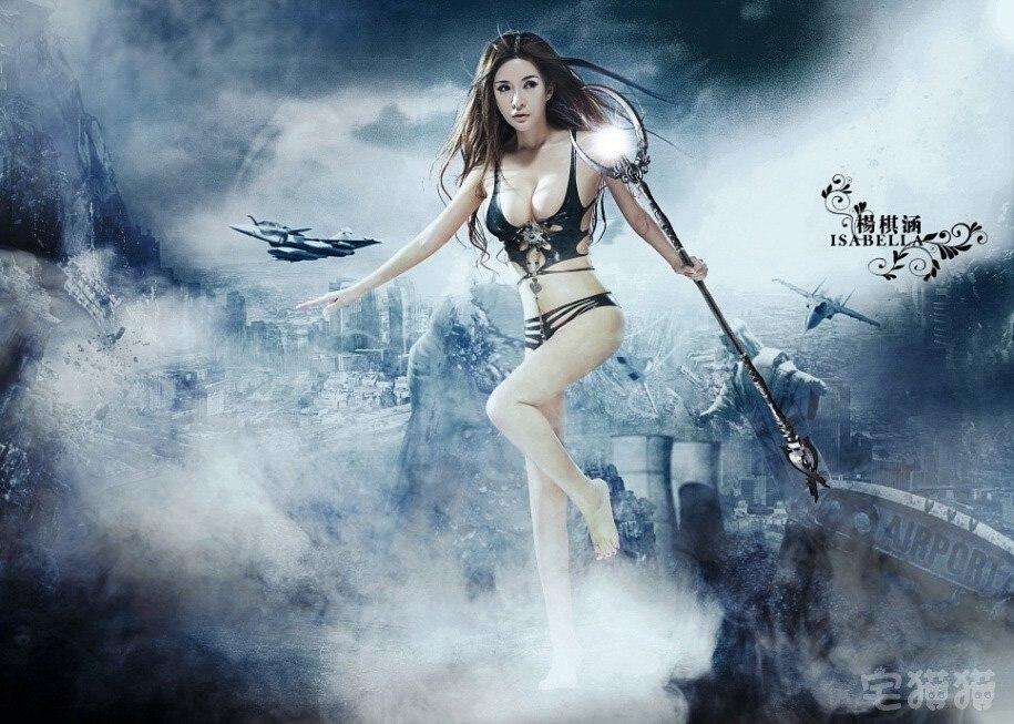 杨棋涵战争女神cosplay写真