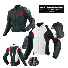 Komine jacket JK052 pants PK717 Genuine Motorcycle suit motocross jacket and pants moto ride jackets Leather mesh jacket suit(China)