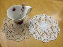 News Arrival 100% Cotton Shabby Chic Vintage Look Crocheted Doilies Wedding Decoration Bar/Kitchen supplies Free ship 24PCS/lot(China)