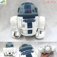 Hot sale 20cm Movies Star Wars Cute Robot R2-D2 Stuffed Cosplay Collection Soft Plush KidsToy Home Deco