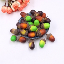 20pcs 3cm Acorns Mini Artificial Fake Foam Fruits and Vegetables Berry Flower Wedding Christmas Tree Decoration DIY Accessories