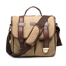 2017 New Fashion Canvas DSLR Camera Bag Professional Outdoor Photography Camera Messenger Bag Exquisite Sewing Comfortable.