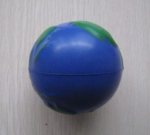 free shipping  6.3cm  globe pu ball,earth pu stress ball,globe squeeze ball  ,earth stress ball,funny earth toy