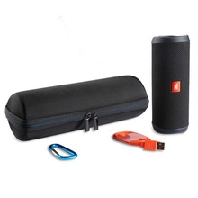 Travel Carrying Protective Carry Cover Case For JBL Flip4 Flip 4 Wireless Bluetooth Speaker Additional Space for Plug & Cables
